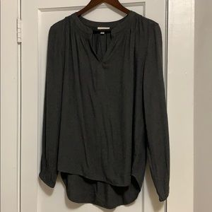 Loft blouse, gray, never worn, perfect w/leggings